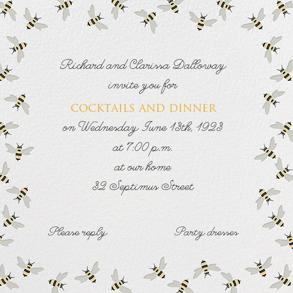 Bumble Bees - Paperless Post - Spring entertaining