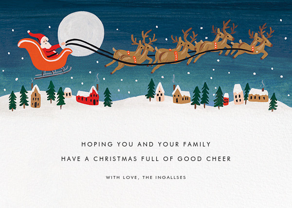 Santa by Moonlight - Fair - Rifle Paper Co. - Christmas