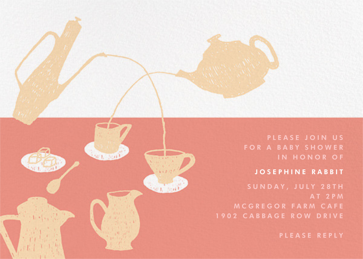 Pour Me a Cup - Pink - Paperless Post