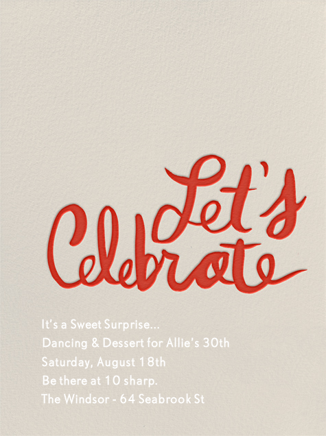 Let's Celebrate - Red - Linda and Harriett - Surprise party