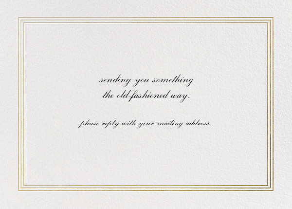 Triple Interior Border (Horizontal) - Gold - Paperless Post - Address collection cards