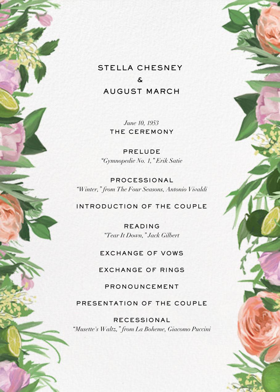 Gramercy Garden (Program) - Paperless Post - Menus and programs