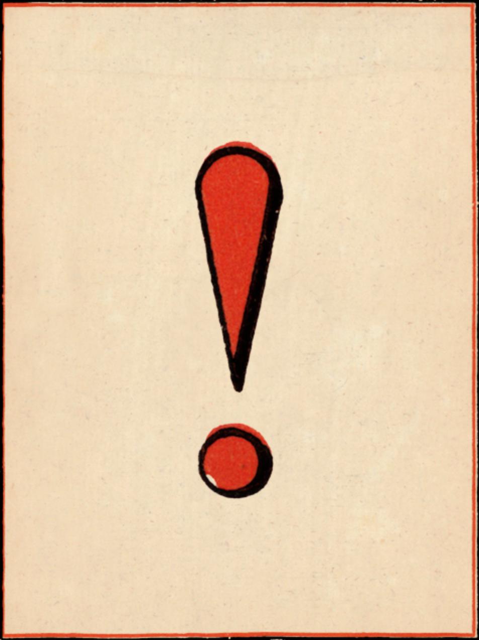 Red Letter - ! - John Derian - Adult birthday