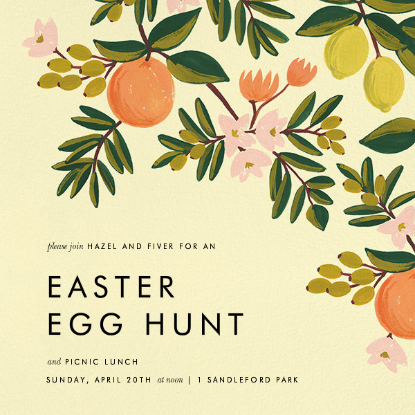 Citrus Orchard - Yellow - Rifle Paper Co. - Easter