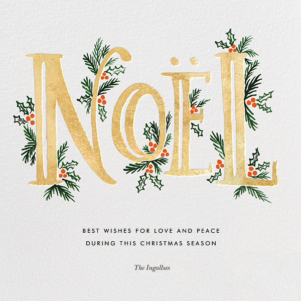 The Fir Noel - Gold - Rifle Paper Co. - Christmas