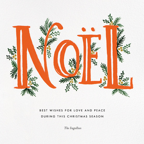 The Fir Noel - Red - Rifle Paper Co. - Christmas