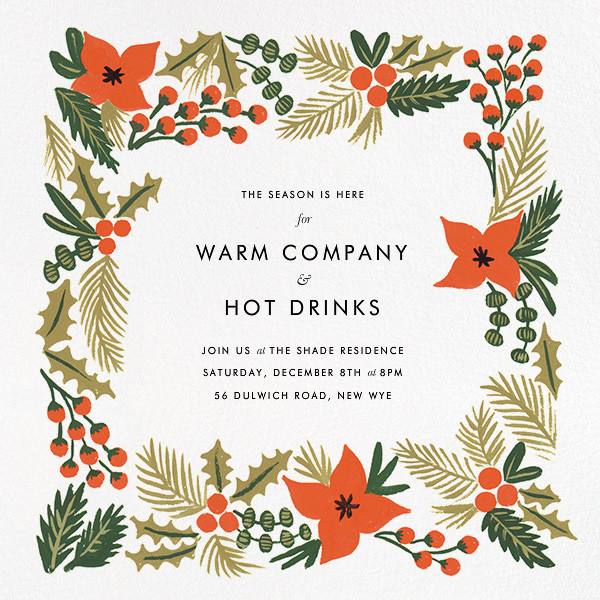 Holiday Potpourri (Square) - Rifle Paper Co. - Winter entertaining