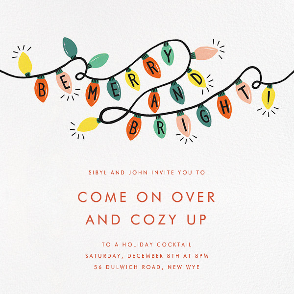 Glow Strings Attached - Ivory - Rifle Paper Co. - Christmas party
