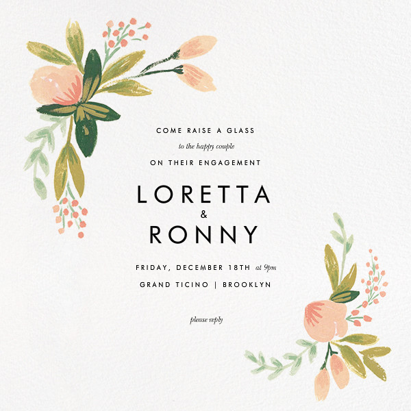 Peach Posies - Rifle Paper Co. - Engagement party
