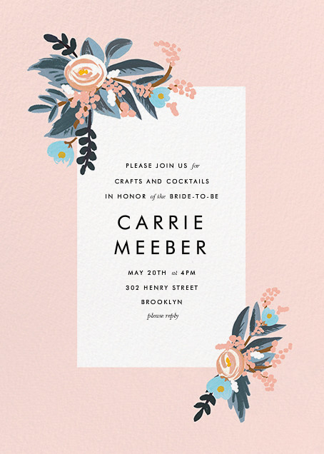 Pinks and Blues - Rifle Paper Co. - Bridal shower