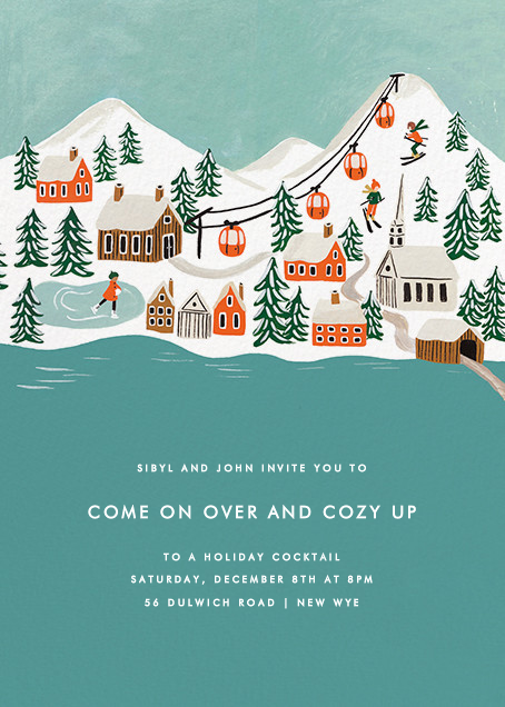 Ski Village - Rifle Paper Co. - Winter entertaining