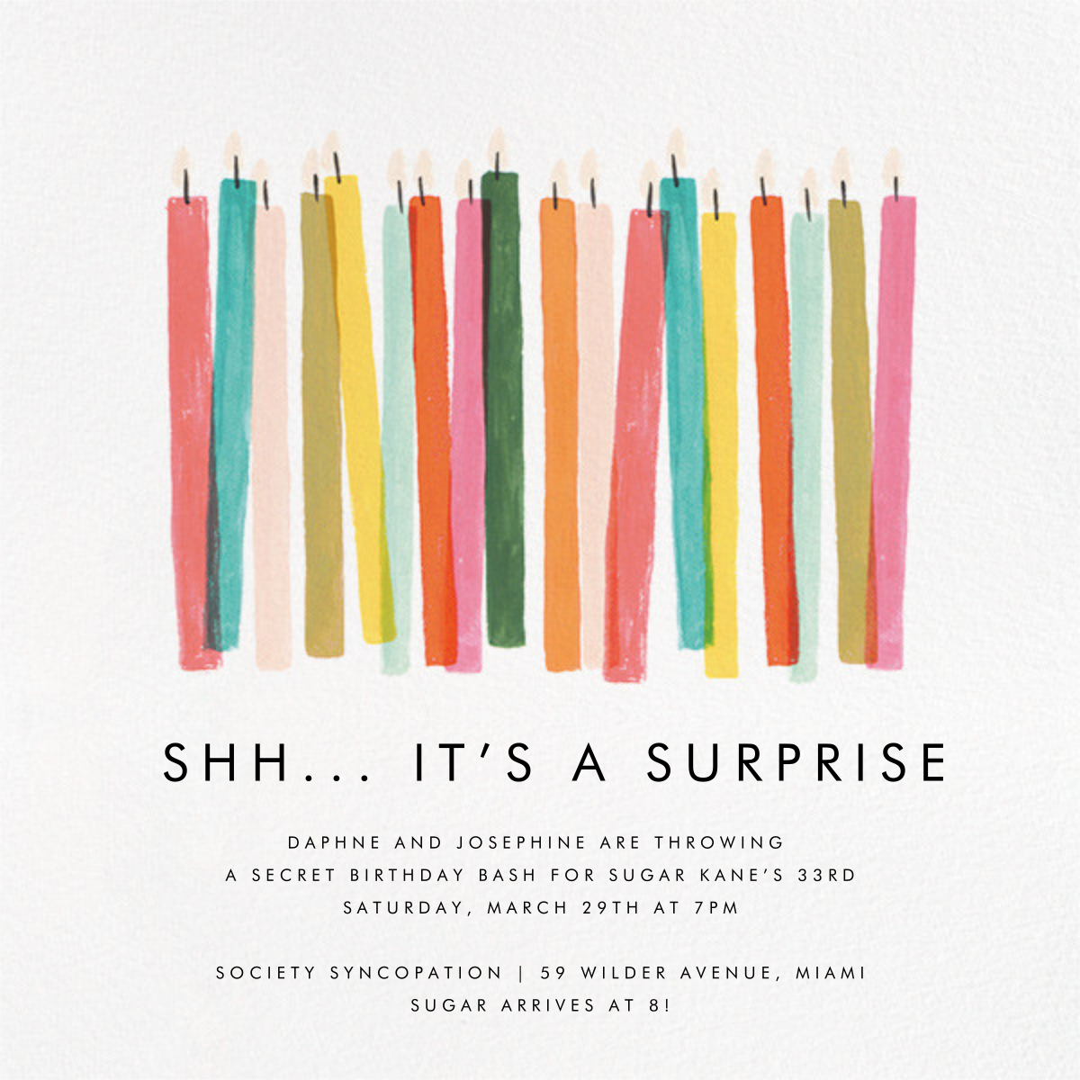 Candle Stand - Rifle Paper Co. - Adult birthday