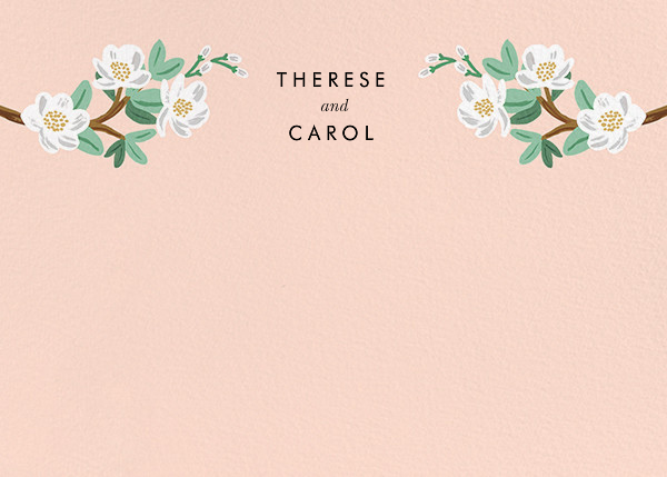 Tea Tree (Stationery) - Peach - Rifle Paper Co. - Personalized stationery