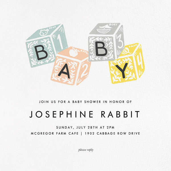 Baby Building Blocks - Rifle Paper Co. - Baby shower