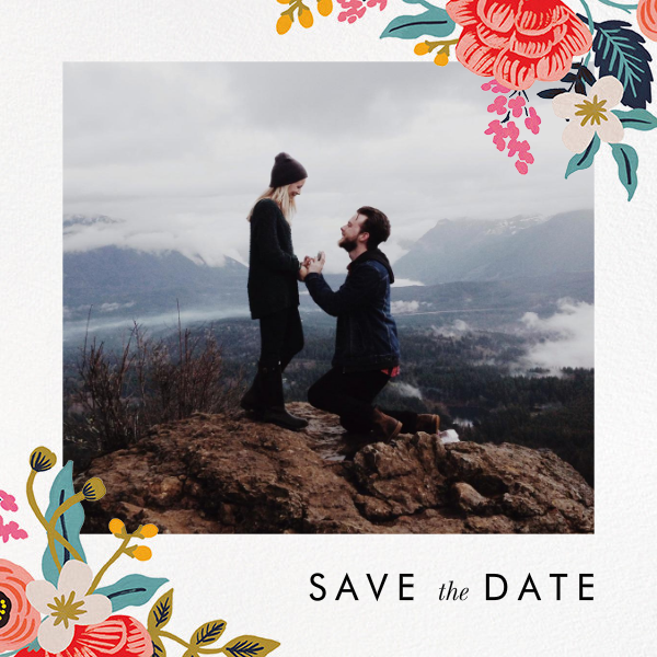 Birch Monarch Suite (Photo Save the Date) - Rifle Paper Co. - Save the date