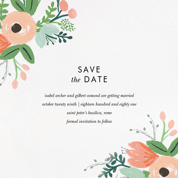 Wrapped in Wildflowers Suite (Save the Date) - Rifle Paper Co. - Save the date