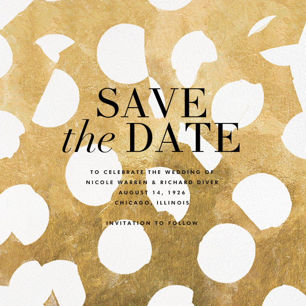 Ingenue - Gilded - Kelly Wearstler - Save the date