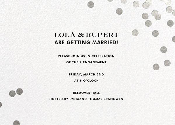 Confetti - White/Silver - kate spade new york - Engagement party