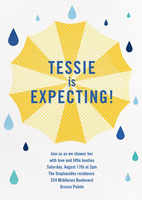 Under My Umbrella - Yellow - Paperless Post - Baby shower