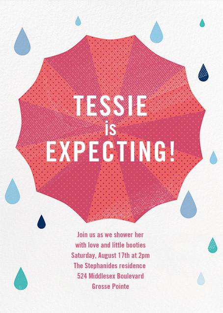 Under My Umbrella - Pink - Paperless Post - Baby shower