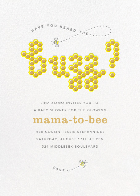 What's the Buzz - Paperless Post - Baby shower