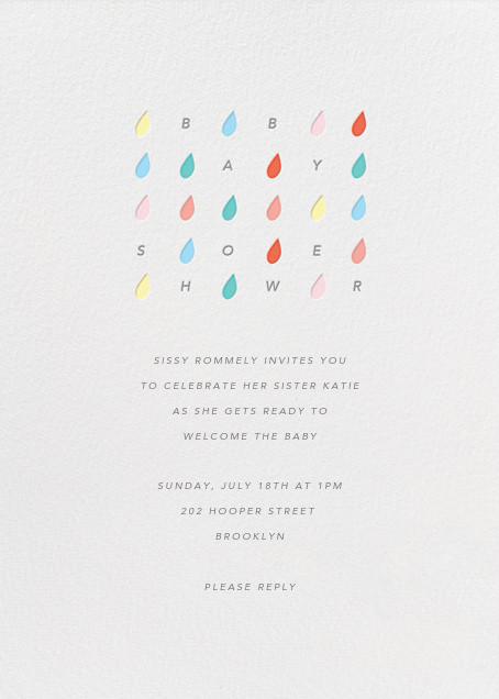 Raindrop Rainbow - Paperless Post - Baby shower