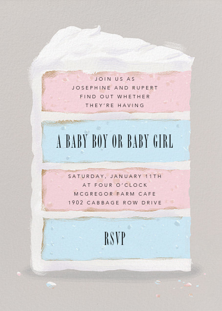 Baby Cake - Paperless Post - Baby shower