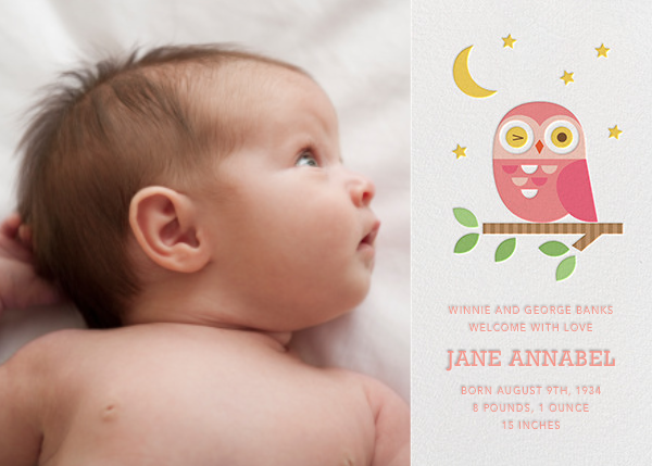 Winking Owl - Pink - Petit Collage - Birth