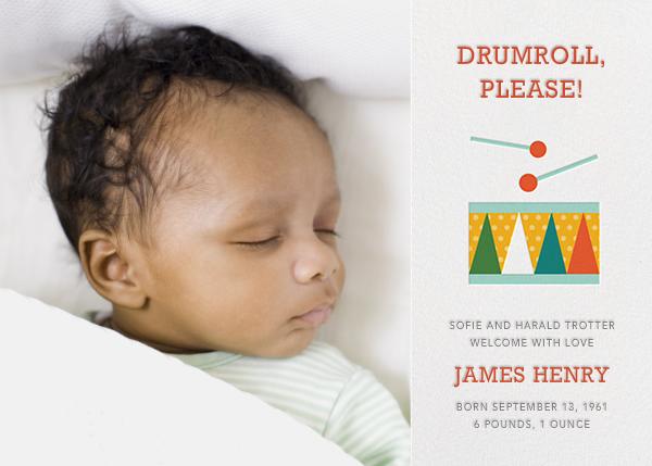Drum Roll, Please - Petit Collage - Birth
