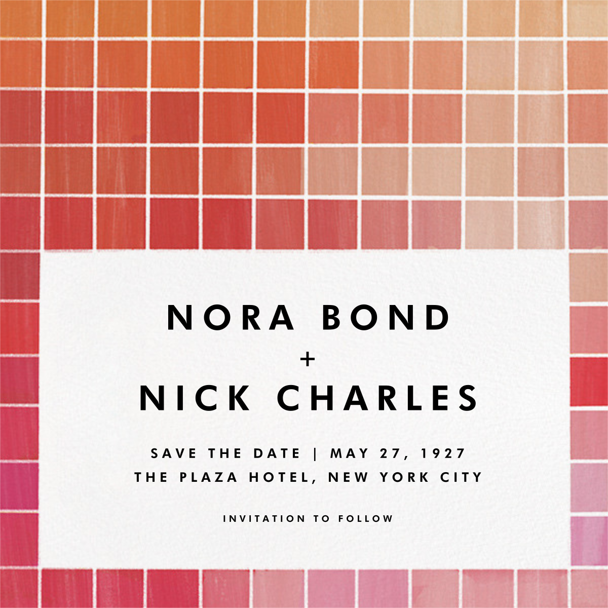 Chromatic - Red - Kelly Wearstler - Party save the dates