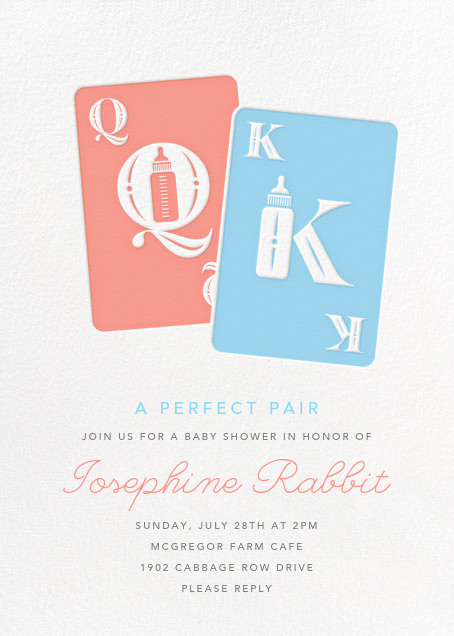 Royal Pair - Paperless Post - Baby shower