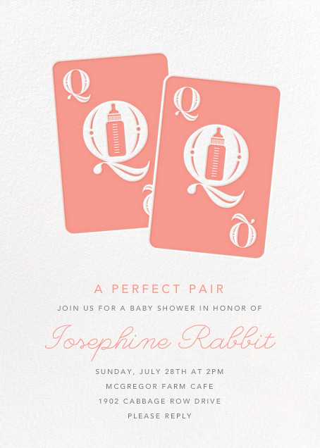 Royal Pair - Pink - Paperless Post - Baby shower