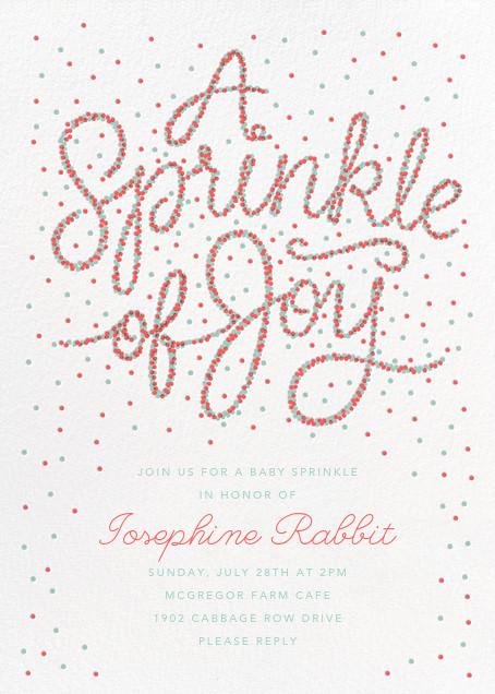 Sprinkle of Joy - Coral - Paperless Post - Baby shower