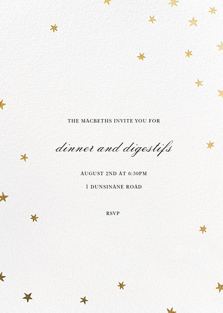 Nightly (Tall) - White/Gold - Paperless Post - General entertaining
