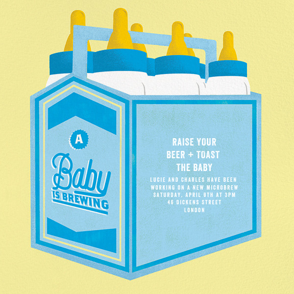 Bottles Up - Blue - Paperless Post - Baby shower