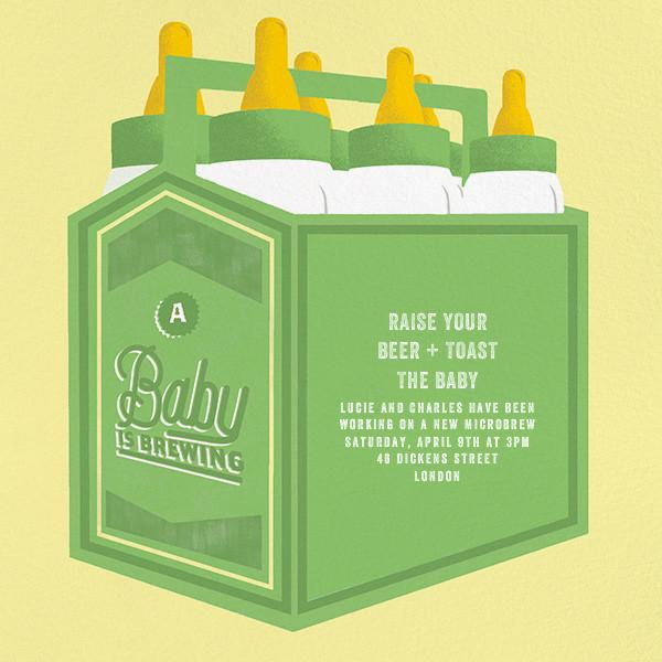 Bottles Up - Green - Paperless Post - Baby shower