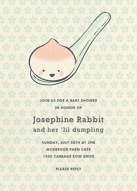 Little Dumpling (Invitation) - Hello!Lucky - Baby shower