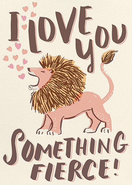 Something Fierce - Hello!Lucky - Love cards