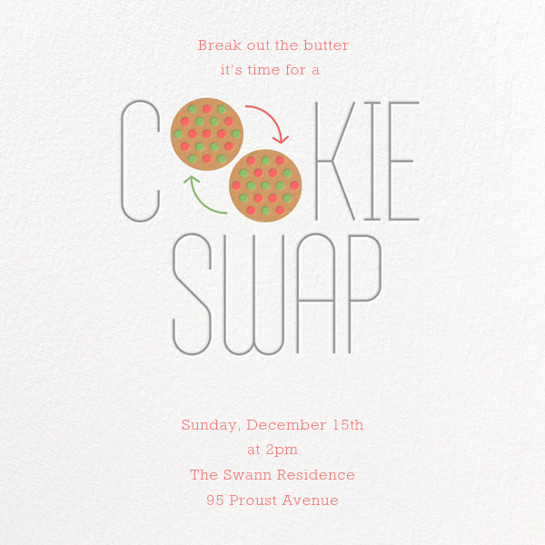 Bake and Switch - Paperless Post - Cookie swap