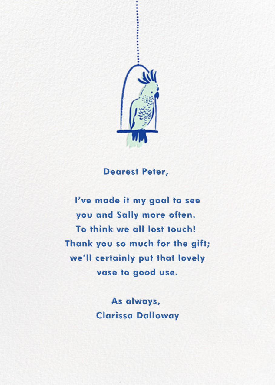 Rare Bird - Hello!Lucky - Thank you - card back