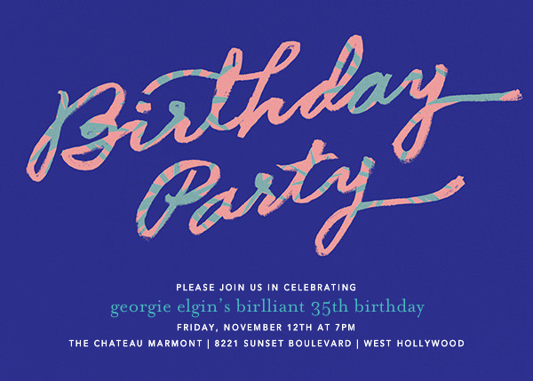 Palmetto Party - Blue - Ashley G - Adult birthday