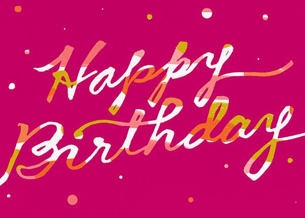 Scratchboard Birthday - Hot Pink - Ashley G