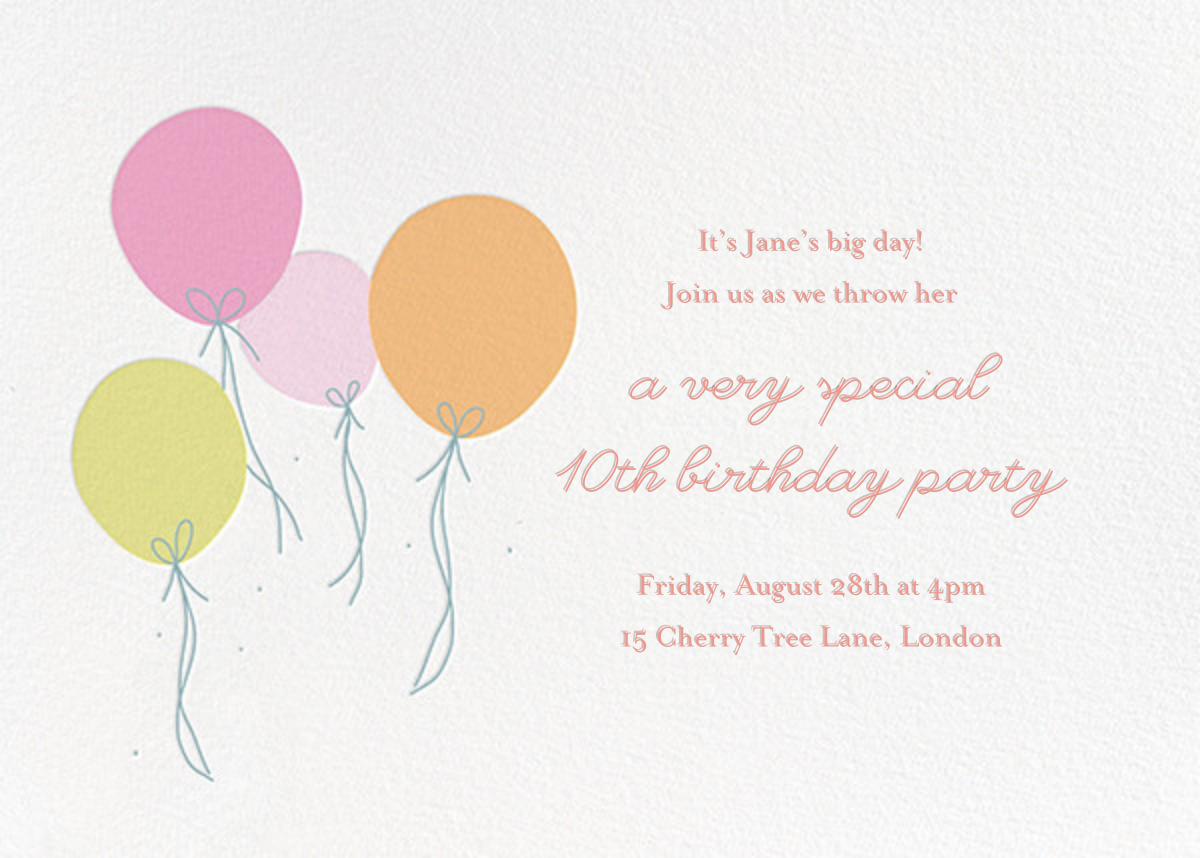 Floating Festivities (Invitation) - Little Cube - Kids' birthday