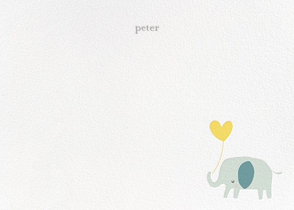 Ellie's Balloon (Stationery) - Yellow - Little Cube - Kids' stationery