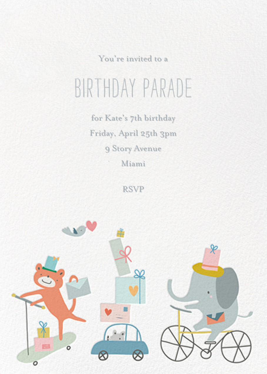Presents Parade - Little Cube - Kids' birthday