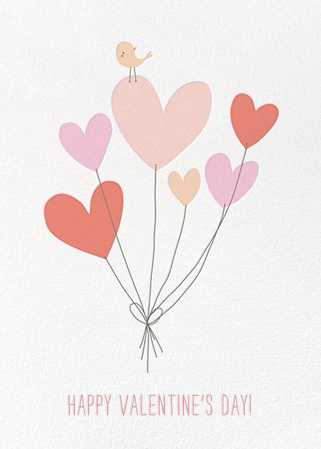 Birdie's Balloons (Greeting)  - Little Cube - Valentine's Day