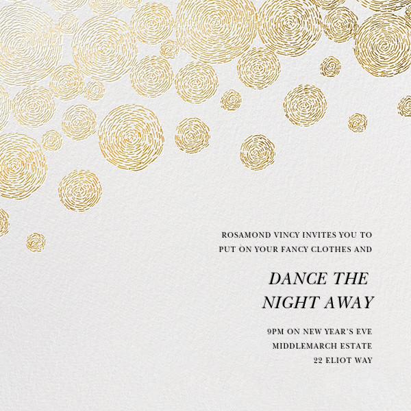Radiant Swirls (Square) - Oscar de la Renta - New Year's Eve