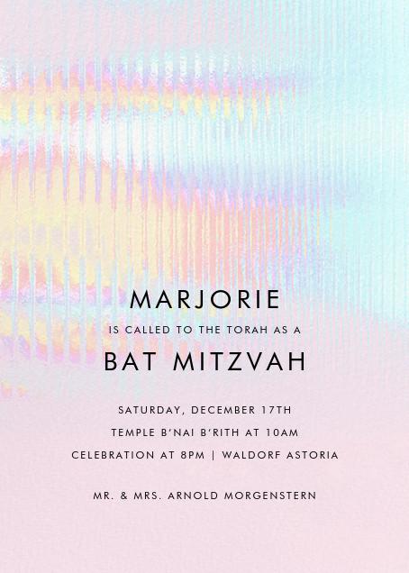 Malibu Haze - Paperless Post - Bar and bat mitzvah