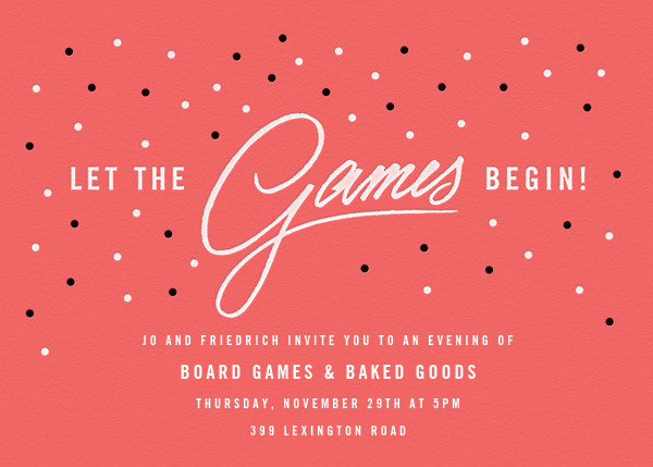 The Game Starts Now - Paperless Post - Sorority events