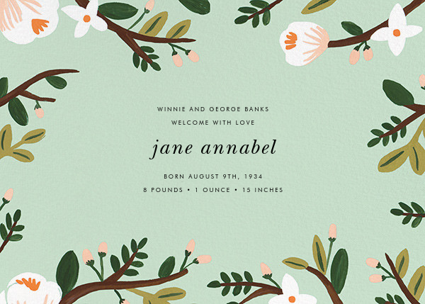 Floral Glade (Photo) - Rifle Paper Co. - Birth - card back